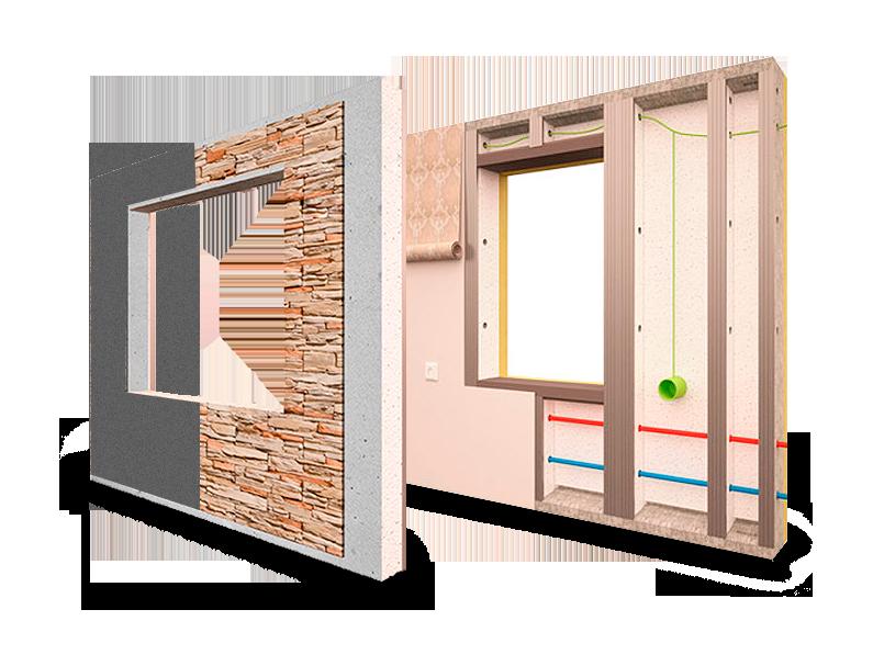 Стеновые панели БЭНПАН для коттеджей.