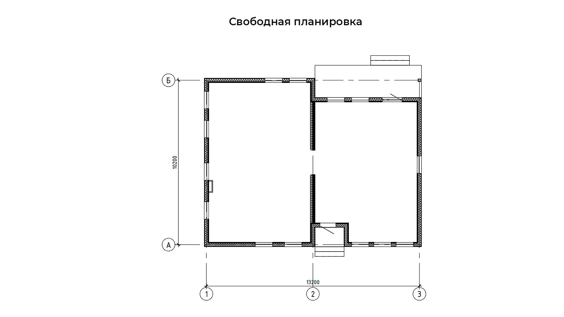 Свободная планировка коттеджа БП-127.